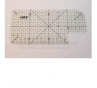 Zažehlovací pravítko 10 x 20 cm