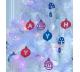 Karta se vzory pro vánoční dekorace
