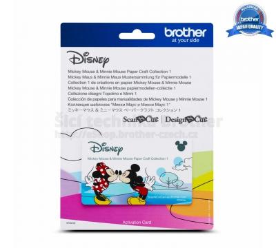 Karta se vzory Disney - MICKY, MINNIE