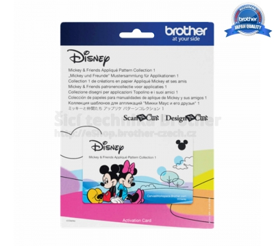 Karta se vzory Disney - Aplikace