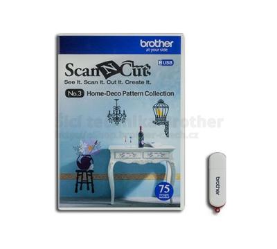 Dekorační vzory ScanNCut - USB3