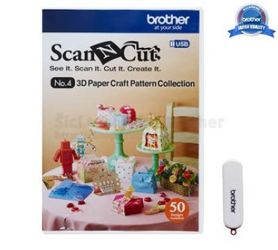 3D papírové vzory ScanNCut - USB4