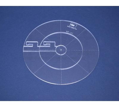 Quiltovací pravítko - Kruhy NP-K1