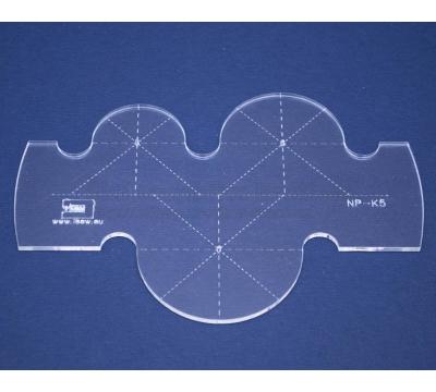 Quiltovací pravítko - Kruhy NP-K5