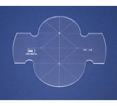 Quiltovací pravítko - Kruhy NP-K6