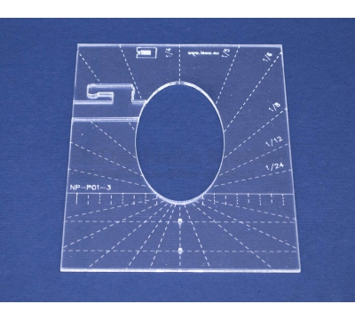 Quiltovací pravítko - Tvary NP-P01-3