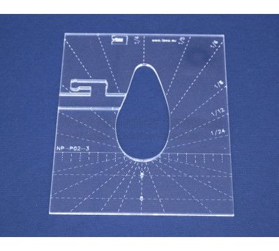 Quiltovací pravítko - Tvary NP-P02-3