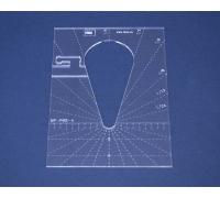 Quiltovací pravítko - Tvary NP-P05-4