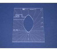 Quiltovací pravítko - Tvary NP-P06-3