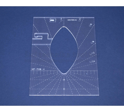 Quiltovací pravítko - Tvary NP-P06-4
