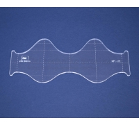 Quiltovací pravítko - Vlnky NP-V2