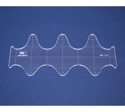 Quiltovací pravítko - Vlnky NP-V3