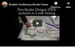 video návod ukázka Vyšívací Bordurový rám 30x10 cm pro V3, V5, V7 - XG6763001