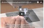 video návod ukázka PATKA PRO SLEPÝ STEH 5 mm - F018