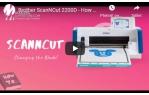 video návod ukázka Řezací plotr Brother ScanNCut SDX 2200D