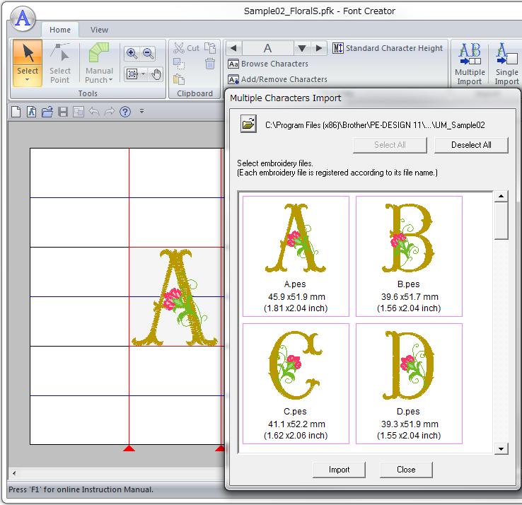 Font Mapping, Font Creator